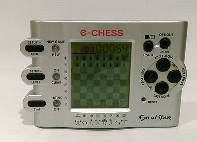 Excalibur E-Chess handheld chess game Model 410 tested/working