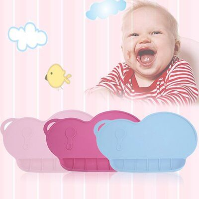 Durable Baby Silicone Heat Insulation Suction Cup Food Placemat Food Tray LN