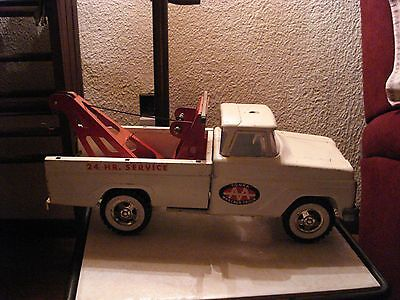 Vintage 1960's Tonka AA Pressed Steel Wrecker / Tow Truck 24 Hr Service toy