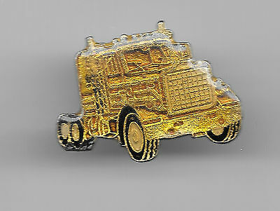 Vintage Golden Peterbilt Truck Rig old enamel pin