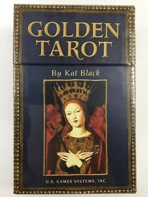 Golden Tarot by Kat Black 78 Golden Gilt Edged Cards & 198 Page Guide Book
