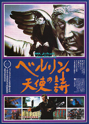 THE WINGS OF DESIRE-1987 Japanese Movie Chirashi flyer(mini poster)