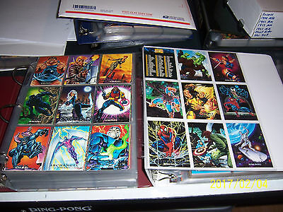 1992 Marvel Masterpieces Card set all 5 Spectra insert cards 3 promos pages