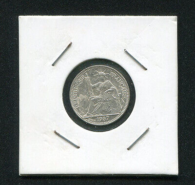 Vietnam French indo-china 10 Cents Silver Coins 1937, KM# 16 UNC condition
