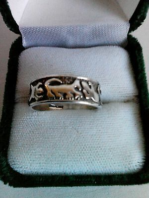 Vintage Sterling Silver Southwest Wildlife Ring Size 8