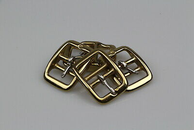 "Double Bar Brass 4 x 25mm or 1"" buckle horse rugs steel/brass plated"