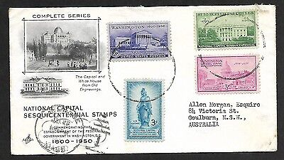 (111cents) USA 1951 National Capital Sesquicentennial Stamps Cover to Australia