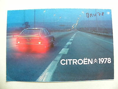 Catalogue / brochure CITROEN 1978