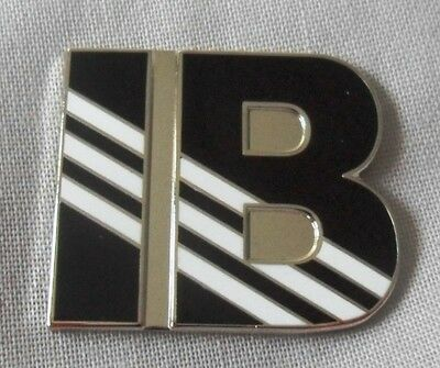 **NEW** Ian Brown 'IB' enamel badge. Casual Connoisseur, Ultras, Hooligan, Firm