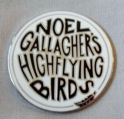 Noel Gallagher's High Flying Birds 'logo' enamel badge. Oasis,Pretty Green,Mod.