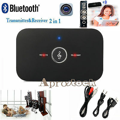2in1 Wireless Bluetooth Stereo Music Transmitter Receiver Adapter A2DP for PC TV