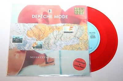 """Depeche Mode - Never Let Me Down Again - 7"""" Mute rotes Vinyl Red Wax"""