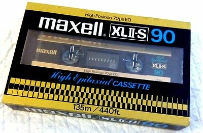 CASSETTE TAPE BLANK SEALED - 1x (one) MAXELL XLII-S 90 [1980-82]  made in Japan