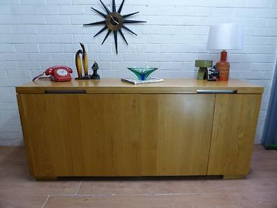 """Quality Crafted Modernists Solid Oak Sideboard Buffet Cabinet """"john Lewis"""""""