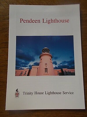 PENDEEN LIGHTHOUSE Trinity House Lighthouse Service Brochure Leaflet 4 pages