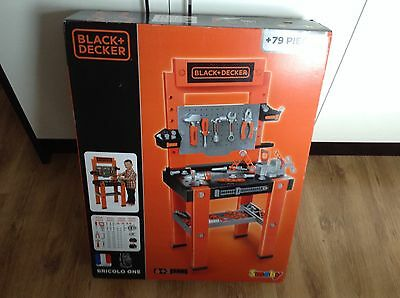 Smoby Black and decker Bricolo One 79 Piece work bench brand new