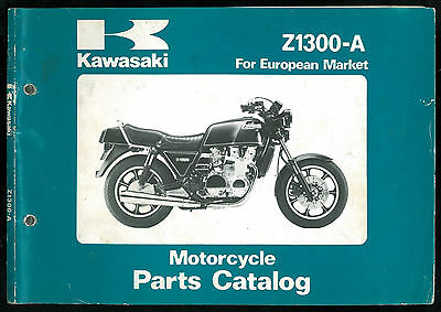 Parts Catalog KAWASAKI Z 1300 A4 / A5 Catalogue de pièces Manuel List European