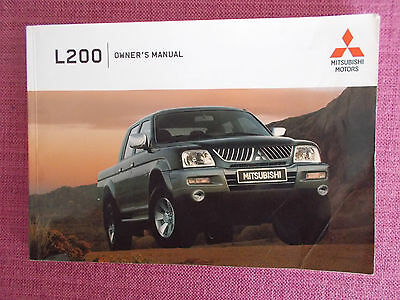 Mitsubishi L200 (2004 - 2006) Owners Manual - Owners Guide - Handbook  (Mit 195)