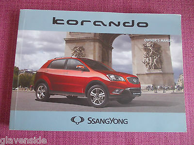 Ssangyong Korando 5 Door Owners Manual - Owners Guide - Owners Handbook (Ss 8))