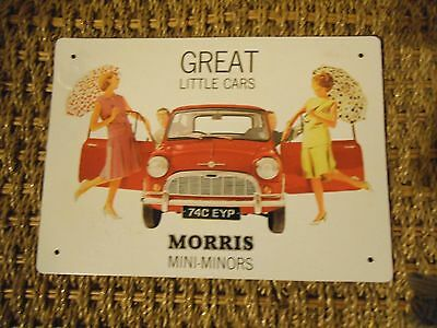 decrotive wall plaque morris minor memorabilia