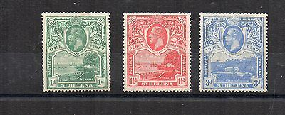 St Helena 1922 set to 3d MLH