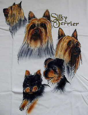 "Silky Terrier T-shirt  "" Natural ""  Small ( 34 - 36 )"