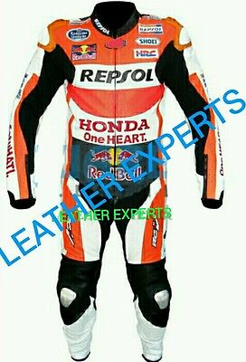 HONDA REPSOL MotoGp( Marc Marquez 2015) MOTORBIKE/MOTORCYCLE LEATHER SUIT