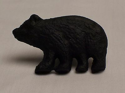Cast Iron Black Bear Drawer / Door Knob Home Cabin Lodge Decor (EAC)