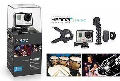 GoPro Hero 3 Plus Black Edition + Music *NEW & SEALED* + BONUS 32GB SD Card