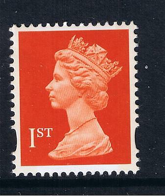 GB QEII MNH SG 1671 1st  Orange-Red Litho 2B NVI Machin Definitive Stamp