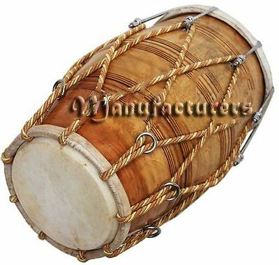 Dholak Drum Rope Bolt Tuned Dholki Dhol Use In Bhajan Kirtanwooden