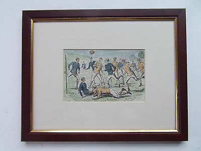"RUGBY NEWLY FRAMED ANTIQUE PRINT DATED c1880 10"" X 12"""