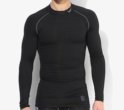 Nike Pro Hyperwarm Compression Top Tshirt Size L Large Muscle Running Gym Black