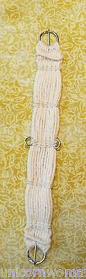 Unicorn Woman's Hand Woven Western Girth Cinch Off-white 1/9 Scale Breyer Stone