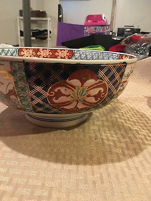Japanese Antique Imari Bowl Hand Painted 8