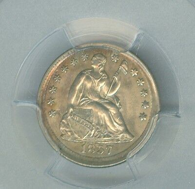 Attractive 1857 Seated Liberty Half Dime PCGS MS 62