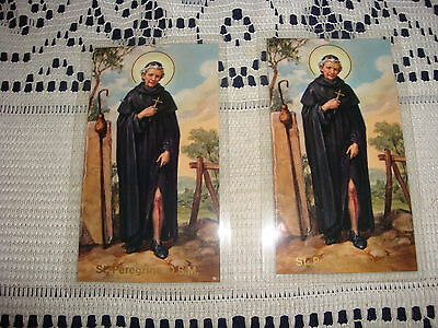 Prayer Card Religious Prayer To Saint Peregrine (Patron Of Cancer Patients)