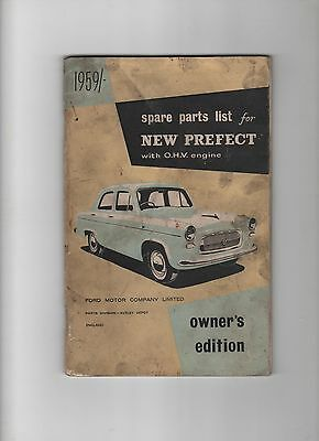 Ford New Prefect 107E 1959 Spare Parts List Owners Edition