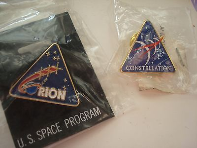 2 Space pins Hat Label Constellation Orion Space Pin NASA US Space Program