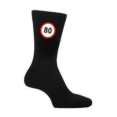 80 MPH Road Sign Years Old Age Speed Mens SOCKS Christmas Birthday Present Gift