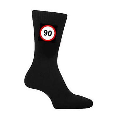 90 MPH Road Sign Years Old Age Speed Mens SOCKS Christmas Birthday Present Gift