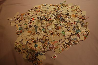 1kg of commonwealth stamps all off paper kiloware including GB (1000g)