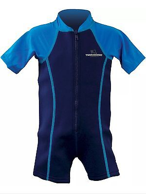 two bare feet Baby Infant neoprene wetsuit Swimming Suit