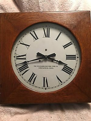 The Standard Electric Clock Time Co. Antique Wall Clock