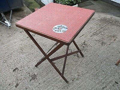 Distressed  Vintage   Baize  Top  Folding   Table.  Free  Delivery