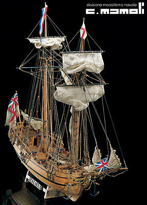 MAMOLI Shooner HALIFAX 1774 wood ship kit model NEW MIB