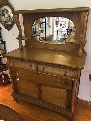 Beautiful Antique Victorian Oak Sideboard