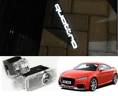 Audi Quattro Logo Led Puddle Projector Ghost Door Lights For A3 A4 A5 A6 Q7 Tt
