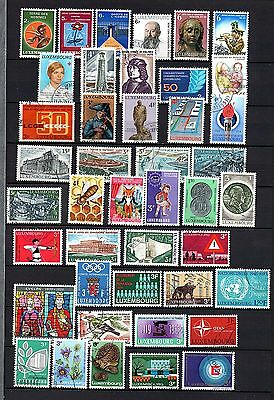Luxembourg (313)  Selection of used stamps upto 1977 period