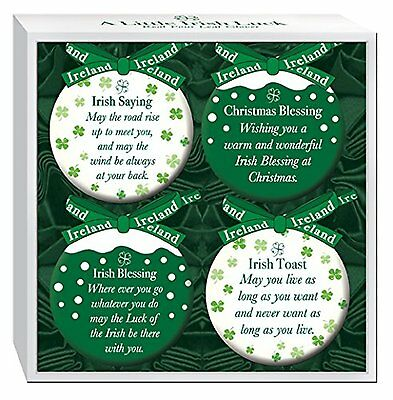 Set of 4 Irish Christmas Baubles